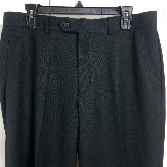 Lineage Other - Lineage Men's Black Dress Pants 34x29 Flat Front